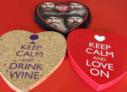 Candy Heart Boxes - Duck Dynasty, Keep Calm and Drink Wine, Keep Calm and Love On