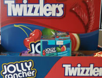 Twizzler and Jolly Rancher Chews